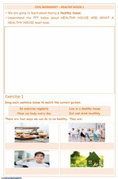 Interactive worksheet Civics-Healthy House