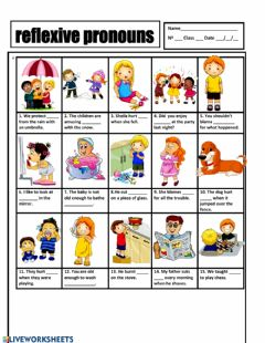 Interactive worksheet Reflexive pronouns