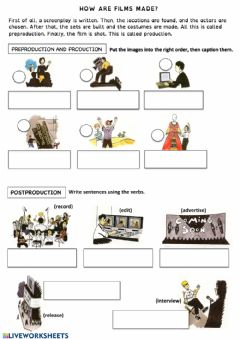 Interactive worksheet How are films made?