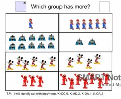 Interactive worksheet Math 7: Which Group Has More