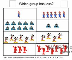 Ficha interactiva Math 8: Which Group Has Less
