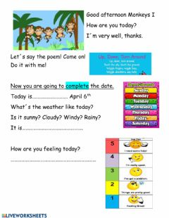 Interactive worksheet Routine of the classroom