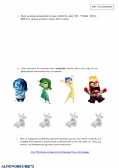Interactive worksheet Colours 1