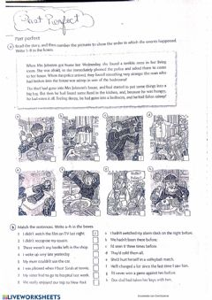 Interactive worksheet Past Perfect- Eyes Open 4
