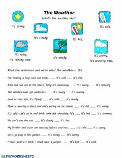 Interactive worksheet The weather 3