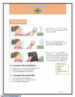 Interactive worksheet Reading paper