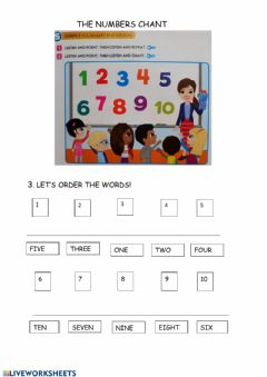 Interactive worksheet THE NUMBERS CHANT - APRIL 8TH