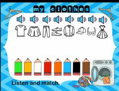 Ficha interactiva Clothes 3 (listen and match)