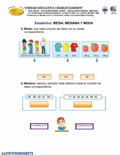 Interactive worksheet Media, mediana y moda