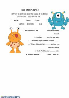 Interactive worksheet Elie Harris