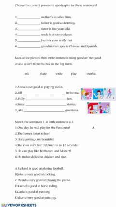 Interactive worksheet Ability