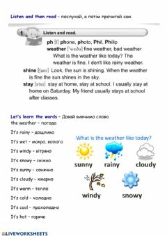 Interactive worksheet Spring is here - les.1