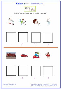 Interactive worksheet Secuencias temporales 3