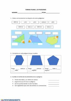 Interactive worksheet LOS POLÍGONOS