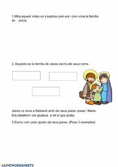 Interactive worksheet Religió Cicle Inicial 1