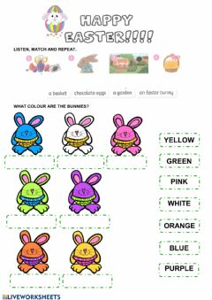 Interactive worksheet Easter and colours