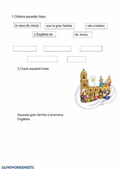 Interactive worksheet Religió Cicle Inicial 2