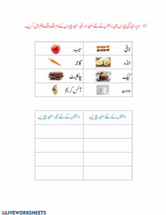 Interactive worksheet Urdu worksheet 2