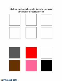 Interactive worksheet Match to Named Color