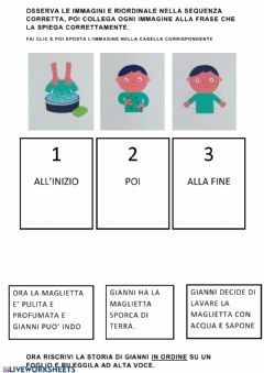 Interactive worksheet La storia di Gianni