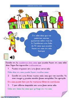 Interactive worksheet 24Abril Expresión escrita: Lista
