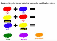 Interactive worksheet Mixing Colores