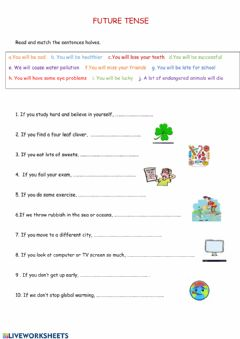 Interactive worksheet Future tense