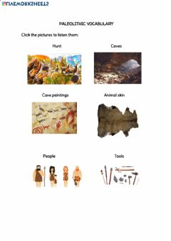 Ficha interactiva Paleolithic vocabulary