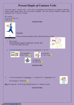 Interactive worksheet UDA 3.3A Present simple (affirmative) General rule and spelling variations