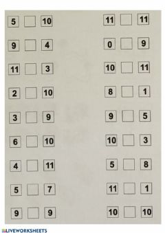 Interactive worksheet Maggiore, minore, uguale 7