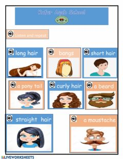 Interactive worksheet Hair