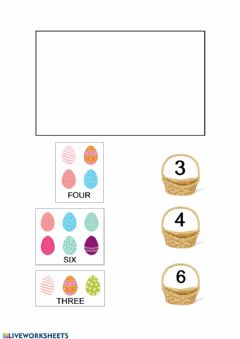 Ficha interactiva Easter numbers and colours