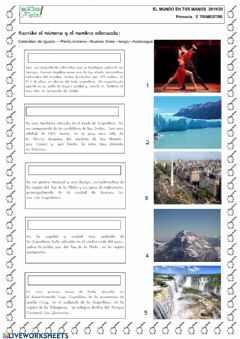 Interactive worksheet Argentina
