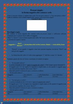 Interactive worksheet UDA 3.4 Present simple of common verbs (negative form)