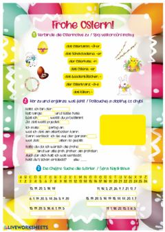 Interactive worksheet Frohe Ostern