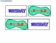 Interactive worksheet Tuesday-Wednesday Matching