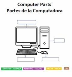Interactive worksheet Computer Parts - Partes de la Computadora