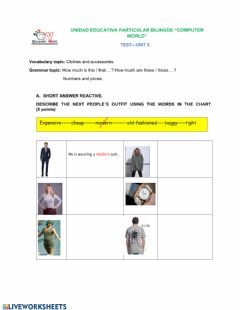 Ficha interactiva Asking for prices and numbers