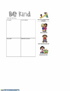 Ficha interactiva Acts of Kindness-Interactive