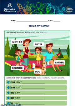 Interactive worksheet My Family