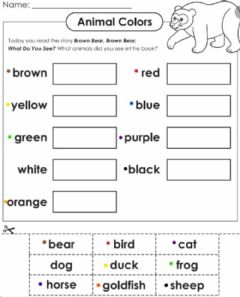 Interactive worksheet Brown Bear Brown Bear Color match