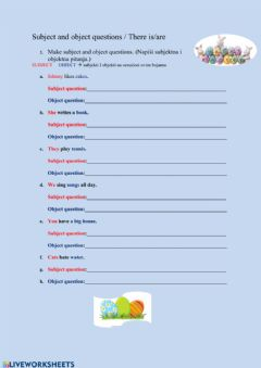 Ficha interactiva Subject and object questions