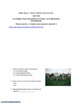 Interactive worksheet Easter Traditions Around the World