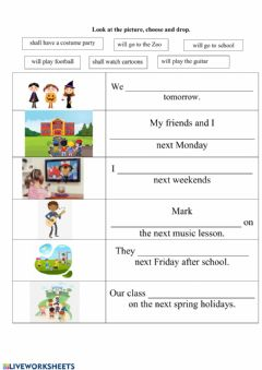 Interactive worksheet What will they do tomorrow?