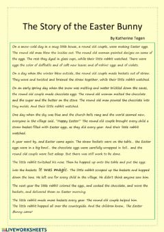 Interactive worksheet The Story of the Easter Bunny by Katherine Tegen