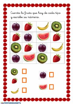 Interactive worksheet Cuento frutas