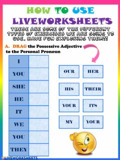 Ficha interactiva How to use Liveworksheets