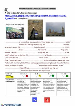 Interactive worksheet In London with Stephany