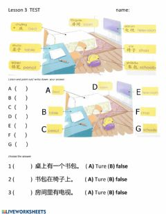 Interactive worksheet Lesson 3