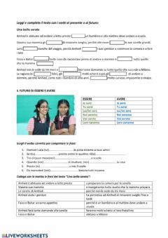 Interactive worksheet Una bella serata